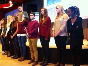 Nackas ungdomar välkomnade alla företagare till feriemässan JobbEtt 2013 och puffade för nya sajten www.nackavarmdo.se.