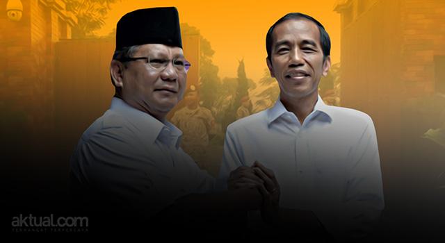 Presiden Joko Widodo dan Ketua Umum DPP Partai Gerindra Prabowo Subianto. (ilustrasi/aktual.com)