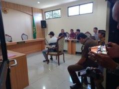 Suasana sidang lanjutan pembacaan keterangan saksi di Pengadilan Negeri Kepanjen, Malang