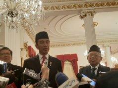 Presiden Jokowi memberikan keterangan pers di Istana Negara Jakarta, Rabu (5/2/2020) (Hanni Sofia)