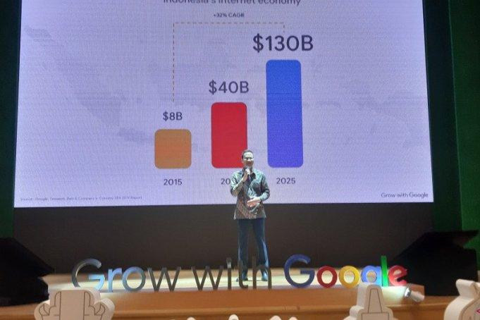 Managing Director Google Indonesia Randy Jusuf pada acara Peluncuran Grow with Google di Perpustakaan Nasional, Jakarta, Selasa (18/2/2020). (ANTARA/Katriana)