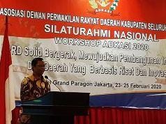 Menteri Koordinator bidang Politik, Hukum dan Keamanan (Menko Polhukam), Mahfud MD saat menjadi pembicara pada acara Workshop Asosiasi DPRD Kabupaten Seluruh Indonesia (ADKSI), di Jakarta Barat, Senin (24/2/2020). (Antara Foto/Syaiful Hakim)