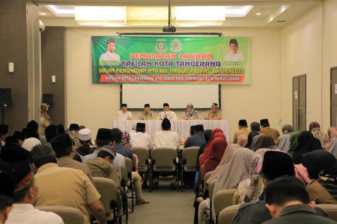 emusatan Latihan Kafilah MTQ Kota Tangerang. Foto Pelitabanten.com (Dok.Ist)