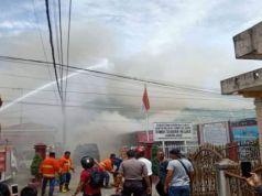 Kericuhan terjadi di Rumah Tahanan Negara (Rutan) Kelas II B Kabanjahe, Kabupaten Karo, Sumatera Utara, Rabu. Foto: ANTARA/HO