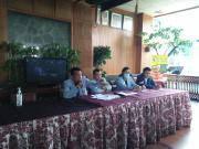 Wakil Ketua Umum Angkatan Muda Demokrat (AMD), Ramli Batubara (paling kiri) saat konferensi pers di Jakarta, Sabtu (27/2)/dok.istimewa
