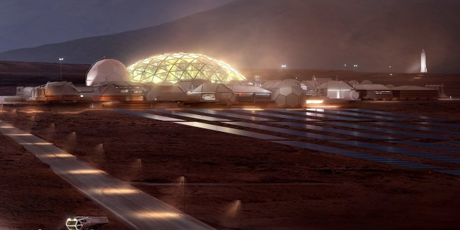 SpaceX base on Mars