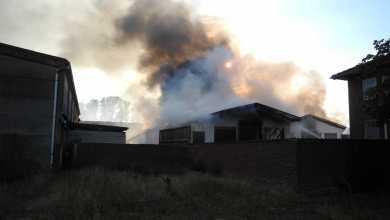 Photo of Feuer zerstört Lagerhalle in Kutenholz