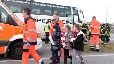 Photo of B75 nach Unfall mit Reisebus in Fahrtrichtung Norden gesperrt