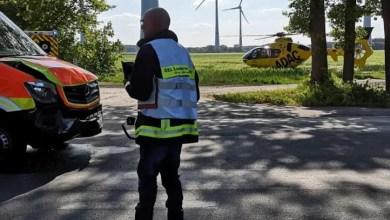 Photo of Verkehrsunfall mit Rettungswagen auf der Landesstraße 124