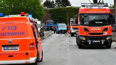 Photo of Bauarbeiter beschädigen Gasleitung in Harburg