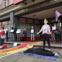 Zugang zur SPD-Zentrale von Aktivisten blockiert