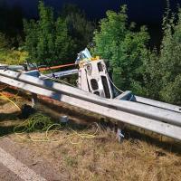 35-jährige Autofahrerin bei Unfall auf der A26 schwer verletzt