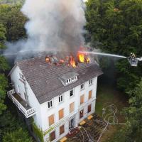 Feuer im ehemaligen Ortsamt Süderelbe