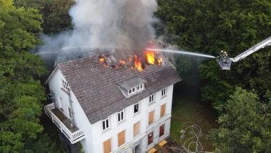 Bild von Feuer im ehemaligen Ortsamt Süderelbe