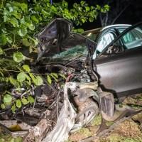 Fahrt mit geliehenem Mercedes endet am Baum