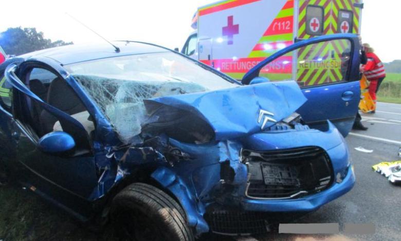 Bild von Fünf zum Teil schwer verletzte Autoinsassen bei Verkehrsunfall auf der Bundesstraße 74