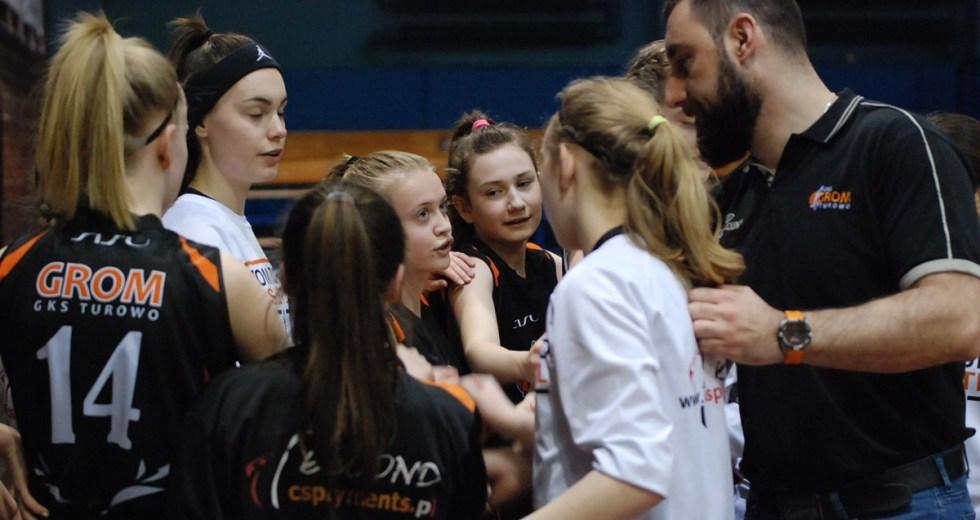 Wygrana i przegrana GROMu Turowo w lidze MAT BET B w Słupsku