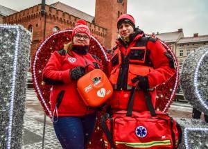 Pierwszy w Szczecinku ogólnodostępny defibrylator AED.