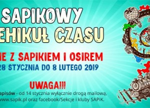 Sapikowy Wehikuł Czasu – ferie zimowe dla dzieci szkolnych