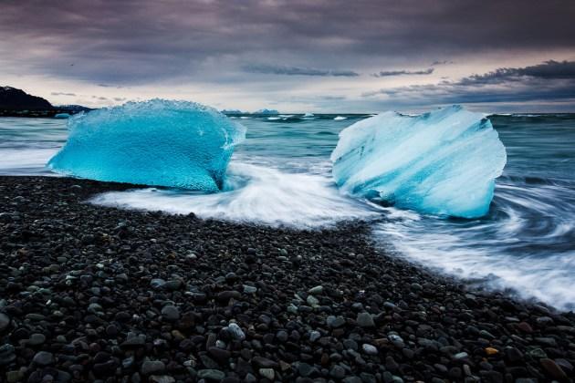 Siyah Çakıltaşı Sahili | Jökulsarlon Lagünü | İzlanda