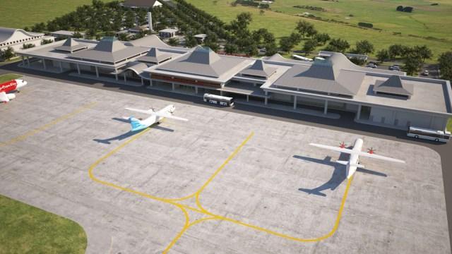 desain pengembangan bandara purbalingga terbaru