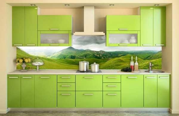 Фартук для кухни - 50 фото, дизайн и установка, из каких ...