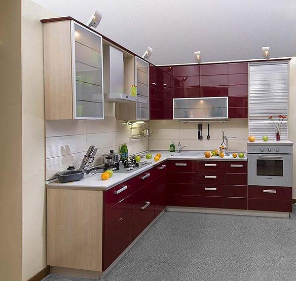 Бордовая кухня в интерьере: фото готовых дизайн-проектов ...