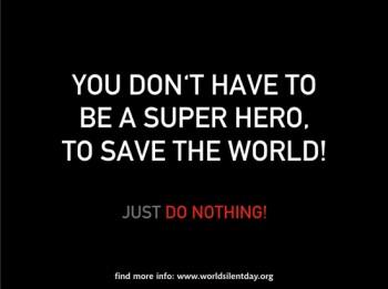 World Silent Day Superhero