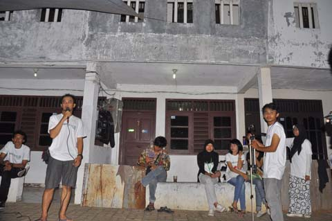 Ray Sangga Kusuma selaku Direktur Komunitas Djuanda menyampaikan sambutan
