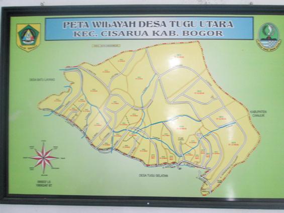 Peta wilayah Desa Tugu Utara.
