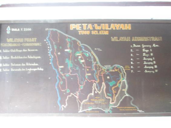 Peta wilayah Desa Tugu Selatan.