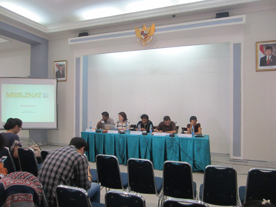 Acara konferensi Pers MUSLIHAT OK. Video -- The 6th Jakarta International Video Festival.