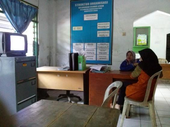 In the office of Cijoro Lebak Village.