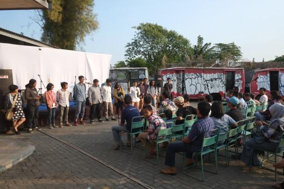 """Pembukaan KALEIDOSKOP """"Jauh Dekat 2015"""" di Ex-Pool DAMRI, Kelurahan Mantrijeron, Yogyakarta."""