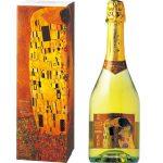 クリムトの名画『接吻』をラベルにしたスパークリングワイン。