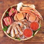 函館朝市海鮮詰合せ(4-5人前) たらば蟹、毛蟹の濃厚で繊細な蟹身
