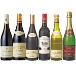 フランス各地のワインを多彩にそろえた6本セット。産地によって異なる味の違いを