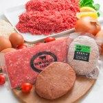 ボーンフリーファームの牛肉をふんだんに使い、よりジューシーで美味しいハンバーグ