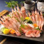 北海道産 甘海老。日本有数の甘海老の産地である、北海道産のみを使用