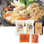 川俣シャモを使った本格シャモ鍋がお手軽に楽しめるセットです。