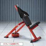 プレートによって負荷を変え、効果的に腹筋運動ができるマシン。