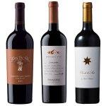 南北アメリカを代表するワイナリーの赤ワイン3本セット。 税込12,144円