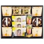 良質なバターを使用した焼き菓子と、栗をベースにした創作和菓子の詰め合わせギフト