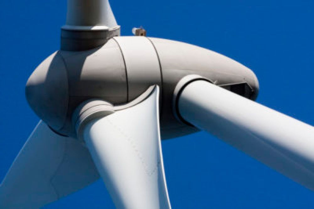 Close up view of the turbine