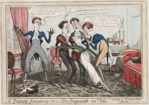 A Dandy fainting