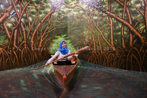 Hutan Mangrove 3D art Rumah Imaji Lagoi Bay Bintan