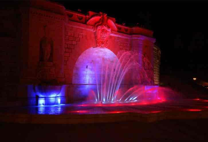 kolorowe fontanny oświetlenie budowa projektowanie szczecin serwis