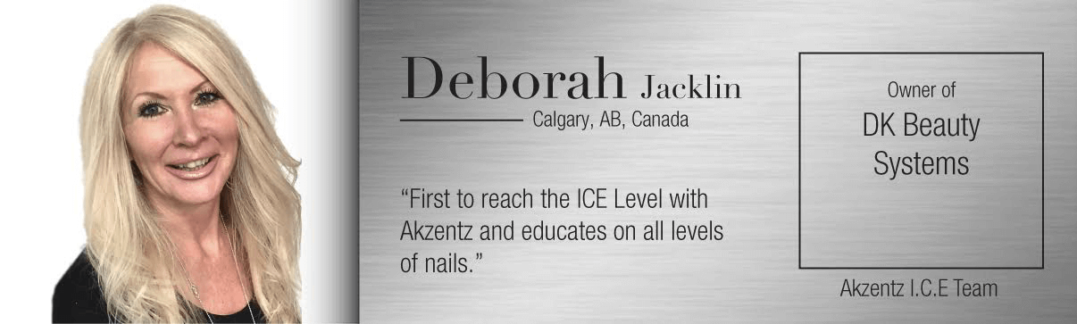 Deborah Jacklin Was The First Person To Reach Ice Level With Akzentz And Teaches All Levels Of Nails Technicians This Includes New Nail