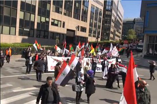 في ذكرى 89 عاما على احتلال الاحواز احتشد الاحوازيون في بروكسل امام البرلمان الاوربي منددين بالاحتلال الايراني للاحواز