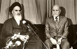 مهدي بازركان اول رئيس مؤقت لايران في عهد الخميني